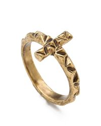 House of Harlow 1960 | Metallic Faceted Cross Ring | Lyst