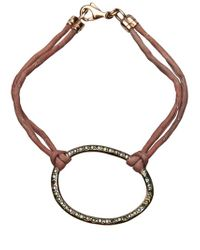 Ileana Makri | Brown Silk Bracelet | Lyst