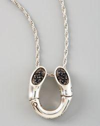 John Hardy | Metallic Bamboo Horseshoe Pendant Necklace | Lyst