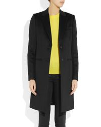 JOSEPH - Black Wool and Cashmere Blend Coat - Lyst