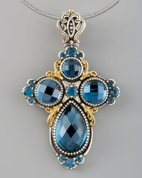Konstantino | London Blue Topaz Cross Enhancer | Lyst