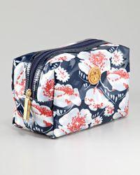 Tory Burch Blue Brigitte Cosmetic Bag