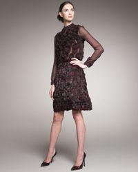 Valentino - Purple Feather Skirt - Lyst