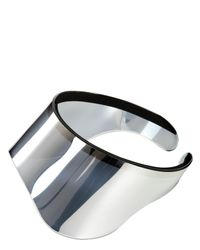 Alexander McQueen - Metallic Silver Mirror Visor - Lyst