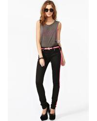 Nasty Gal | Black Neon Streak Skinny Jeans | Lyst