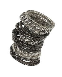TOPSHOP Metallic Mega Mesh Bracelet Multi Pack