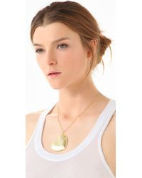 Tuleste - Metallic Heart Pendant Necklace - Lyst