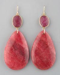Devon Leigh | Red Drop Earrings | Lyst