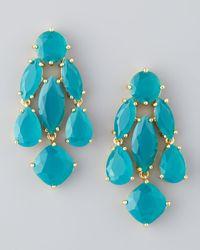 kate spade new york - Blue Statement Crystal Earrings  - Lyst