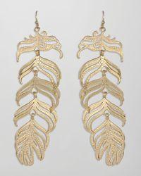 Kendra Scott | Metallic Large Feather Earrings | Lyst