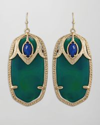 Kendra Scott | Green Darby Peacock Earrings | Lyst