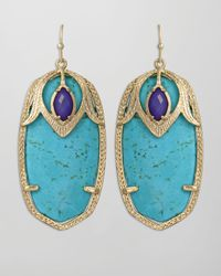 Kendra Scott | Blue Darby Peacock Earrings Turquoise | Lyst