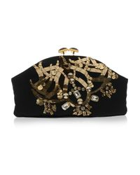 Marni | Black Jewel and Horn Embellished Clutch | Lyst