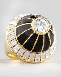 Rachel Zoe White Domed Crystal Ring