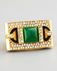 Rachel Zoe | Green Rectangular Ring  | Lyst
