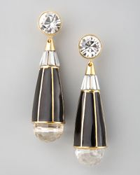 Rachel Zoe - Black Teardrop Earrings - Lyst