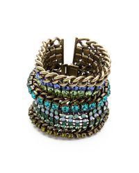 DANNIJO | Green Tate Bracelet | Lyst
