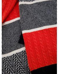 Henrik Vibskov Red Striped Scarf