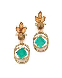 Lulu Frost Metallic Althea Crystal and Glass Earrings