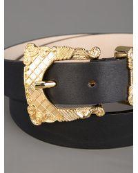 Balmain Black Baroque Belt