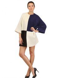 Gianluca Capannolo - Multicolor Two Tone Wool Alpaca Boucle Cloth Coat - Lyst