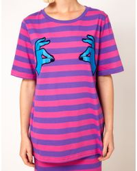 House of Holland Pink Oversized Nip Pinch Tee