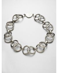 Tory Burch | Metallic Ring Link Necklace | Lyst