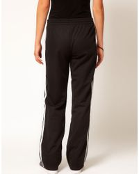 Adidas | The Firebird Track Pants in Black and White | Lyst