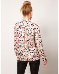 MINKPINK | Multicolor When Doves Cry Printed Cut Out Shirt | Lyst