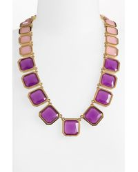 kate spade new york | Pink Frame Of Mind Graduated Necklace | Lyst