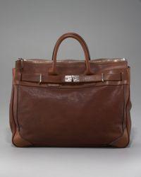 Brunello Cucinelli | Brown Leather Briefcase for Men | Lyst