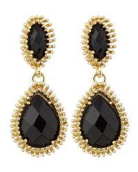 Kendra Scott - Black Kelli Earrings  - Lyst