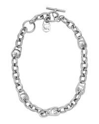Michael Kors - Metallic Chain Link Toggle Necklace - Lyst