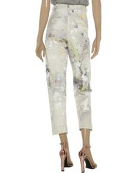 Alexander Wang | Beige Printed Midr-Rise Straight-Leg Jeans | Lyst