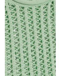 Alexander Wang Green Open Knit Cotton Tank