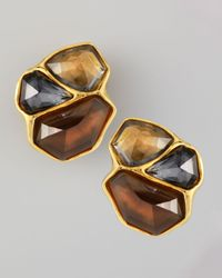 Alexis Bittar | Brown Bel Air Cluster Clip Earrings | Lyst
