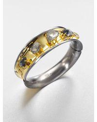 Alexis Bittar | Metallic Twotone Doublet Stone Bracelet | Lyst