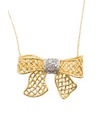 Alexis Bittar   Metallic Pave Bow Necklace   Lyst