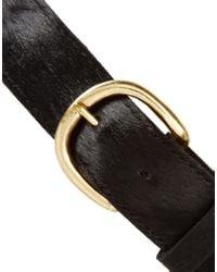 ASOS - Black Leather Peplum Skirt Waist Belt - Lyst