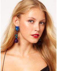 ASOS Blue Jewel Bauble Earrings