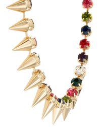 ASOS - Metallic Signature Spike Necklace - Lyst