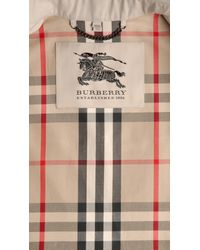 Burberry - Natural Long Cotton Trench Coat - Lyst