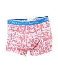 Calvin Klein | Pink New York Print Underwear Trunk for Men | Lyst