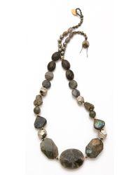 Chan Luu Black Onyx & Crystal Long Beaded Necklace