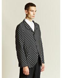 Comme des Garçons Black Comme Des Garcons Homme Plus Mens Jacquard Swelled Polka Dot Blazer for men