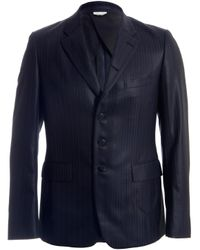 Comme des Garçons Blue Comme Des Garcons Homme Plus Mens Wool Ester Dobby Stripe Blazer for men