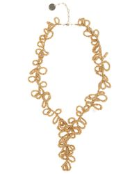 Elie Saab | Metallic Gold Long Loop Necklace | Lyst