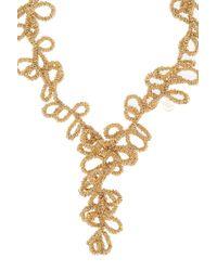 Elie Saab - Metallic Gold Long Loop Necklace - Lyst