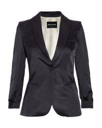 Giorgio Armani Blue Silkblend Satin Jacket