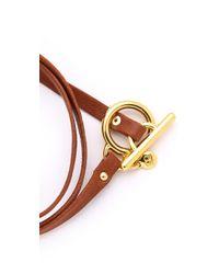 Gorjana Brown Graham Leather Triple Wrap Bracelet